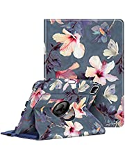 """Fintie Rotating Case for iPad Pro 11-inch (3rd Generation) 2021 - 360 Degree Swiveling Stand Cover w/Pencil Holder, Also Fit iPad Pro 11"""" 2nd Gen 2020 / 1st Gen 2018, Blooming Hibiscus"""