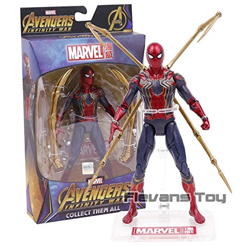 Marvel Spiderman Avengers Infinity War Iron Spider Spider-Man PVC Action Figure Collection Model Doll Toys Gift