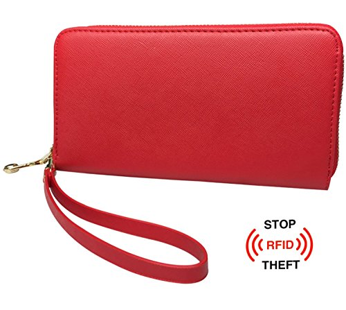 Red Metal and PU Leather Credit Card/Business Card Holder - 6