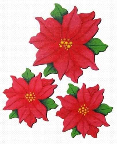 Embellish Your Story Poinsettia Magnets - Set of 3 Assorted - Embellish Your Story Roeda 100788-EMB by Demdaco by Demdaco
