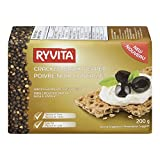 RYVITA Cracked Black Pepper Wholegrain Rye Crispbread, 12-Count