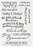 MSE Encouragement Innies & Outies My Sentiments Stamps Sheet, 4 by 6'', Clear