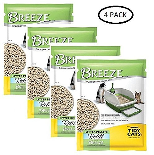 (Purina Tidy Cats BREEZE Cat Litter Pellets Refill for Multiple Cats 3.5 lb. Pouch (3.5 lb. - Pack of 4))