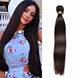 FEEL ME Color 2 8a Malaysian Natural Straight Human Hair Extensions Bundles Brown Soft Feel Straight Colored Malaysian Virgin Hair Bundles Dark Brown Hair Weave Double Weft 22inch