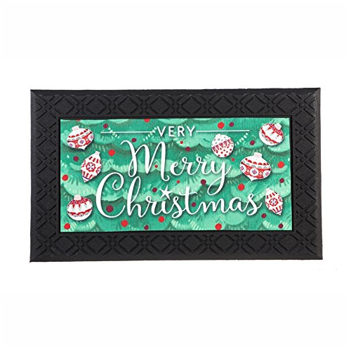 Evergreen Merry Christmas Indoor/Outdoor Safe Entry Way LED Musical Doorway Mat, 30 x 18 inches -