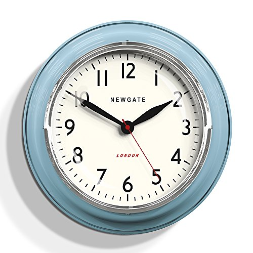 Newgate Cookhouse Kettle Wall Clock Blue