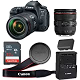 Canon EOS 6D Mark II 26.2 MP CMOS Digital SLR Camera with 3.0-Inch LCD with EF 24-70mm f/4L IS USM Lens - Wi-Fi Enabled (Certified Refurbished)