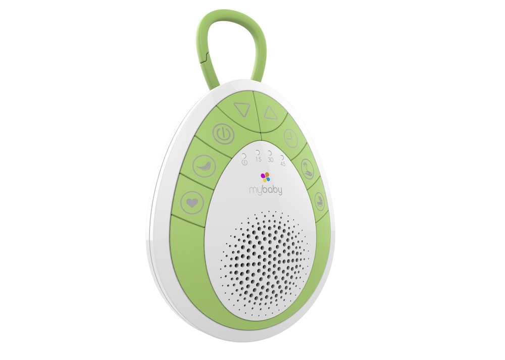 myBaby Soundspa On‐the‐Go, Plays 4 Soothing Sounds, Includes Clip For Strollers, Diaper Bags, Car Seats, Cribs, Auto-off Timer, Lightweight, Perfect for Busy Moms, MYB‐S110 by myBaby (Image #2)