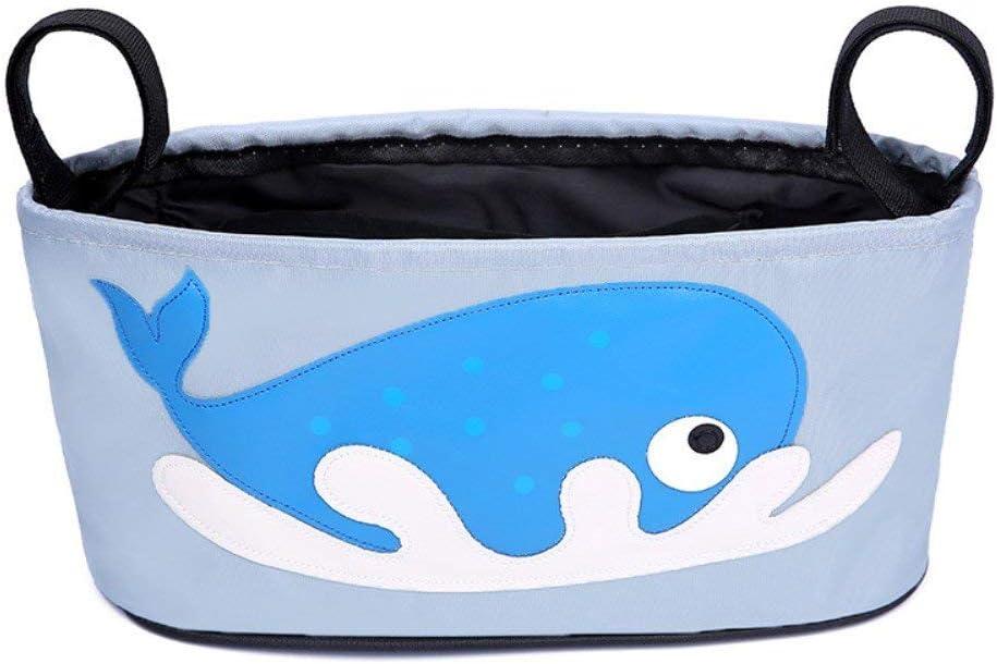 Bolsa para carrito de bebe ligera pequeña manejable y resistente (Ballena)