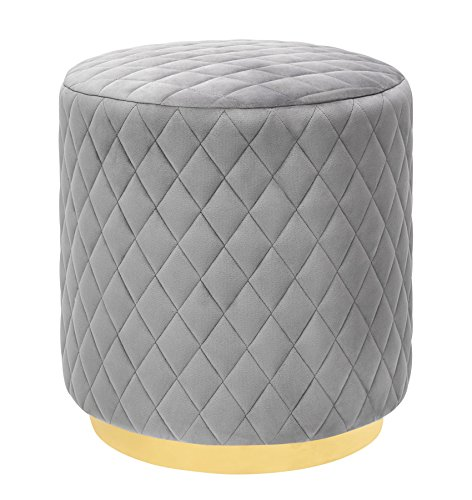 Tov Furniture TOV-O135 Abir Collection Modern Handmade Living Room Diamond Tufted Velvet Ottoman ()