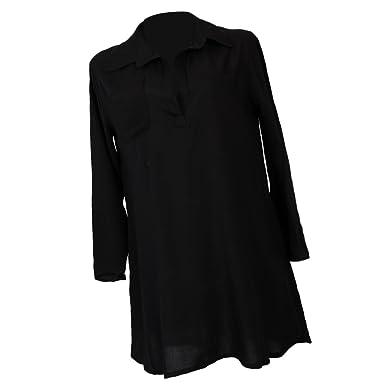 d50788d6e3 Baoblaze Ladies Sheer Long Sleeve Blouse Casual Oversize Kaftan Sarong Shirt  Beach Wear Bikini Swimsuit Cover