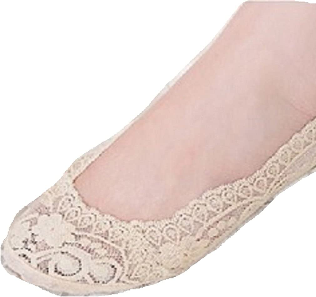 Invisible Liner No Show Socks Peds Boat Low Cut Women Lace Antiskid Socks W