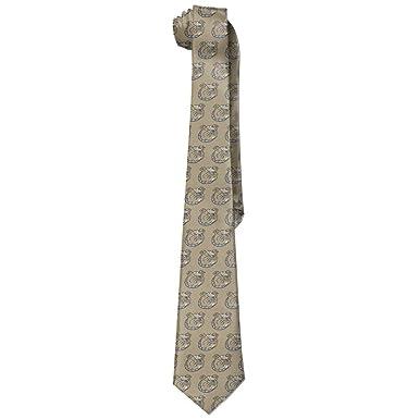Bull-dogs Skinny Tie Corbata de moda Corbatas Blanco: Amazon.es ...