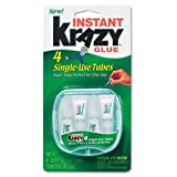 Krazy Glue Products - Krazy Glue - Krazy Glue Single-Use Tubes w/Storage Case, 4/Pack - Sold As 1 Pack - All-purpose formula for glass, metal, plastic, wood and rubber in single-use applicators that offer convenience and ease of use for home and office. -