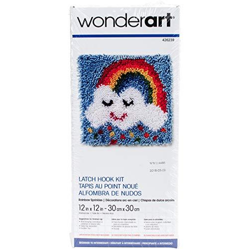 Wonderart Rainbow Sprinkles Latch Hook Kit, 12