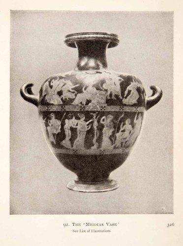 Ancient Greece Vases (1913 Print Ancient Greece Banding Meidias Vase Painter Etruscan Florid Mannerist - Original Halftone Print)