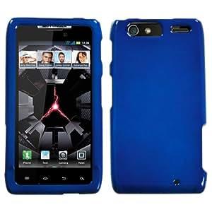 Hard Plastic Snap on Cover Fits Motorola XT912M XT913 XT916 Droid Razr Maxx Solid Dark Blue Verizon