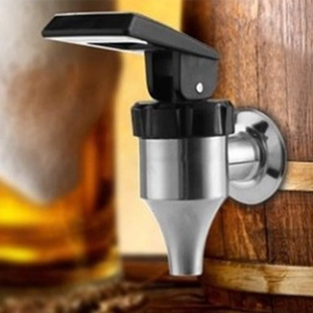 Silver QLING Distributeur de Boissons Robinet en Acier Inoxydable 304 Tonneau de vin Spigot Remplacement Vin Biere Jus Robinet 16mm Taille Unique
