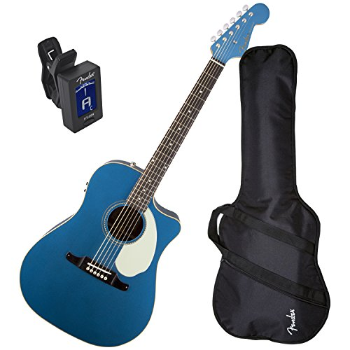 coustic Electric Guitar Version 2 (Lake Placid Blue) w/Gig Bag and Tuner ()