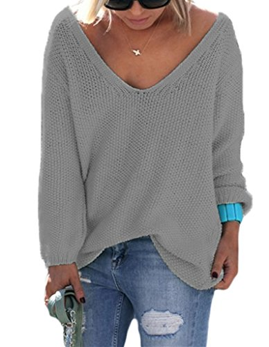 Sidefeel Women Loose Pullover Sweater