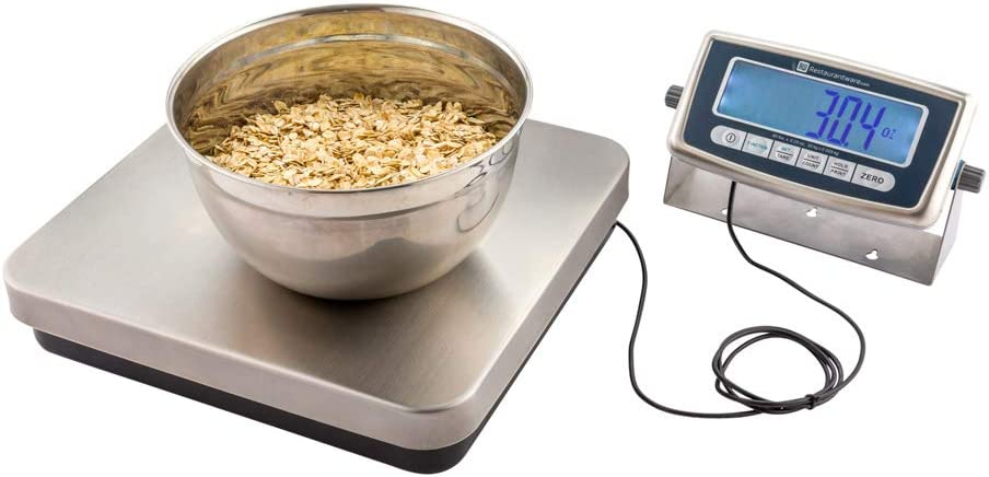 Met Lux 60 Pound Digital Receiving Scale, 1 Electronic Food Scale - Multifunctional, LCD Display, Stainless Steel Shipping Scales, For Home, Industrial, or Commercial Use - Restaurantware