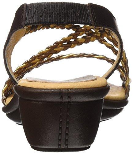 Egoisimo 7967323, Sandalias con Plataforma Plana para Mujer Dorado (Bronce)