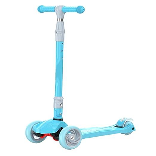 LJXin-Kick Scooters Patinete para niños Patinete de 4 Ruedas ...