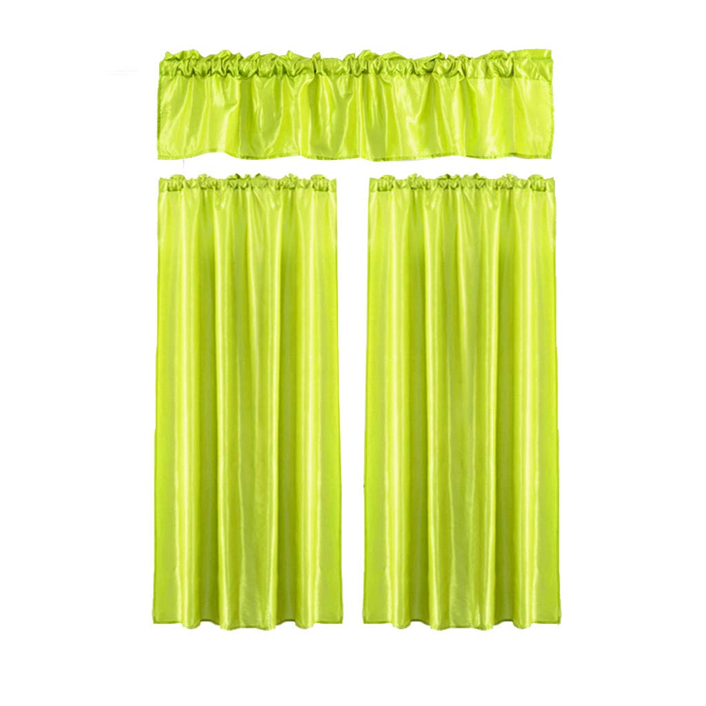 Iuhan 3Pcs Window Curtain Sheer Voile Panels for Kids Room, Kitchen, Living Room & Bedroom (R)