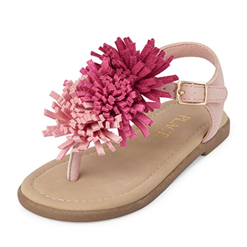 Product image of The Children's Place Girls' TG POM Zahara Sandal, Pink, TDDLR 8 US Toddler