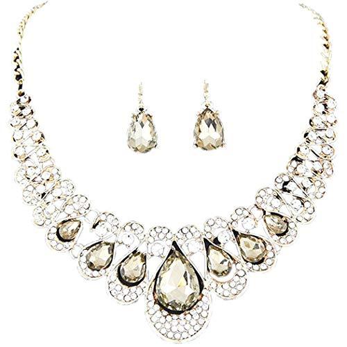 Zronji Women Personality Elegant Collar Necklace Earring Set Fashion Jewelry Jewelry Sets