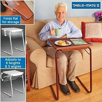 Table Mate II Woodgrain Folding Table