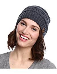 Cable Knit Beanie by Tough Headwear - Thick, Soft & Warm...