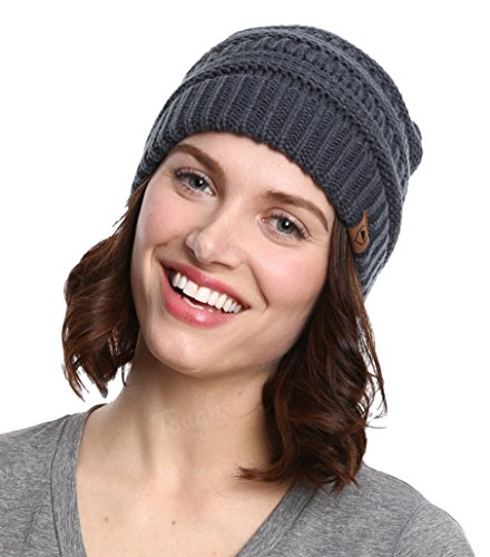 Cable Knit Beanie by Tough Headwear - Thick, Soft