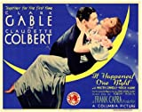 It Happened One Night POSTER Movie (1934) Style A 11 x 14 Inches - 28cm x 36cm (Clark Gable)(Claudette Colbert)(Roscoe Karns)(Walter Connolly)(Alan Hale)(Ward Bond)