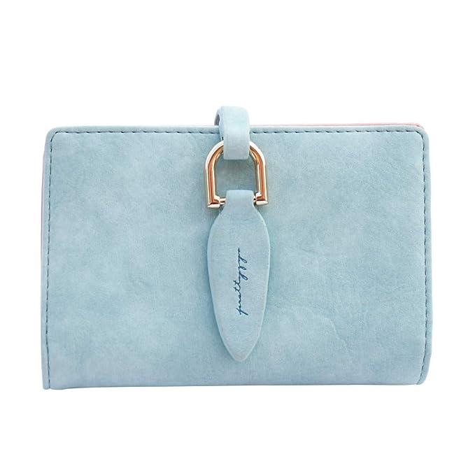 98cfc78cb9 Elecenty Portafoglio da donna in pelle Elegente tasca porta carte credito  mini per donna: Amazon.it: Abbigliamento