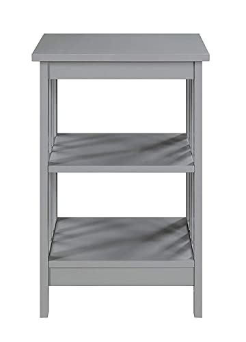 Convenience Concepts End Table, Gray