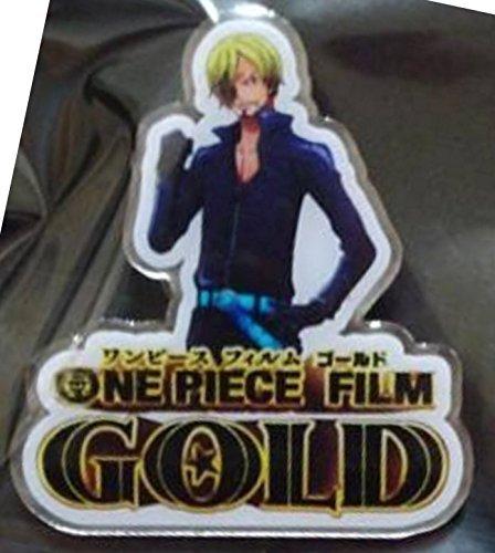 ONE PIECE film gold movie limited pin badge Sanji Shueisha
