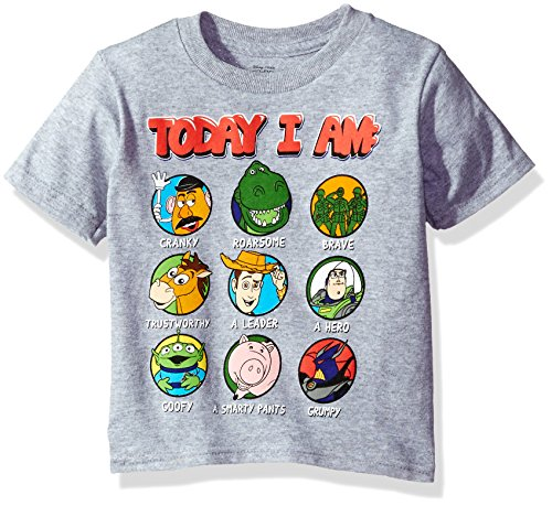 Disney Toddler Boys' Toy Story Short Sleeve T-Shirt, Heather Grey, 5T (Toy Story Shirts)