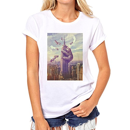 sloth-empire-states-building-king-kong-hipster-quality-womens-t-shirt