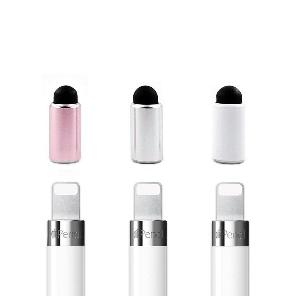Magnetic Cap for Apple Pencil Metal Pen Tip for iPad Pro 10.5 9.7 12.9 inch Accessory 3pcs Pne Cap with Conductive Nib 3PCS Pink