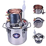 Seeutek 3Gal 12L Home Water Alcohol Distiller Copper Moonshine Still Kit Stainless Boiler Thumper Keg