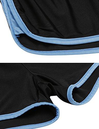 Ekouaer - Pantalón corto deportivo - para mujer azul/negro