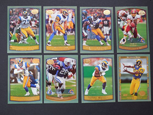 St Louis Rams 1999 Topps Team Set (Super Bowl Champions)**Isaac Bruce, Kevin Carter, D'Marco Farr, Marshall Faulk, Trent Green, Torry Holt, Amp Lee and Ricky Proehl** from Topps