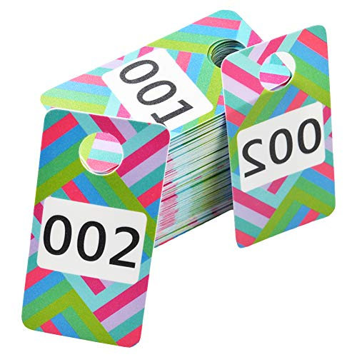 Zehhe 100 Pieces Reusable Consecutive Live Sale Number Tags with Normal and Reversed Mirrored Numbers for Facebook Live Sales and LuLaroe Supplies (001-100)