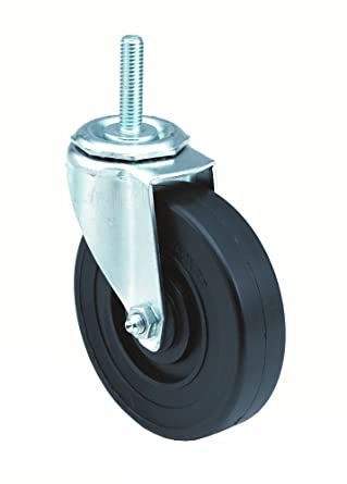 3 Wheel Dia E.R Rigid Delrin Bearing Wagner Plate Caster Soft Rubber Wheel 2-3//4 Plate Width 3-3//4 Mount Height 125 lbs Capacity 1-1//4 Wheel Width 3-3//4 Plate Length