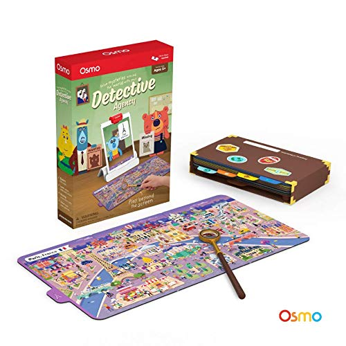 Osmo - Detective Agency: A Search & Find Mystery Game - Ages 5-12 - Explore The World - For iPad and Fire Tablet (Osmo Base Required) (Bases Ideas Table Glass)