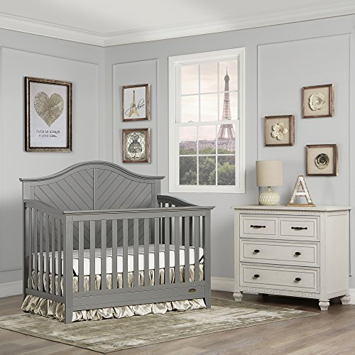 51UiBaw8gDL - Dream On Me Ella 5-in-1 Full Size Convertible Crib, Storm Grey