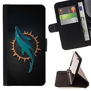 BullDog Case - FOR/LG G2 D800 / - / cool dolphin sn carbon art /- Monedero de cuero de la PU Llevar cubierta de la caja con el ID Credit Card Slots Flip funda de cuer