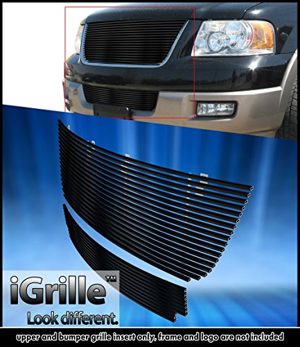 Black Stainless Steel eGrille Billet Grille Grill For 2003-2006 Ford Expedition Combo 05 Ford Expedition Billet