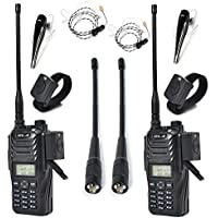 HYS TC-589 10W Dual Band VHF UHF Long Distance Walkie Talkie with Wireless Bluetooth Earphone and Wire Air Tube Earpiece